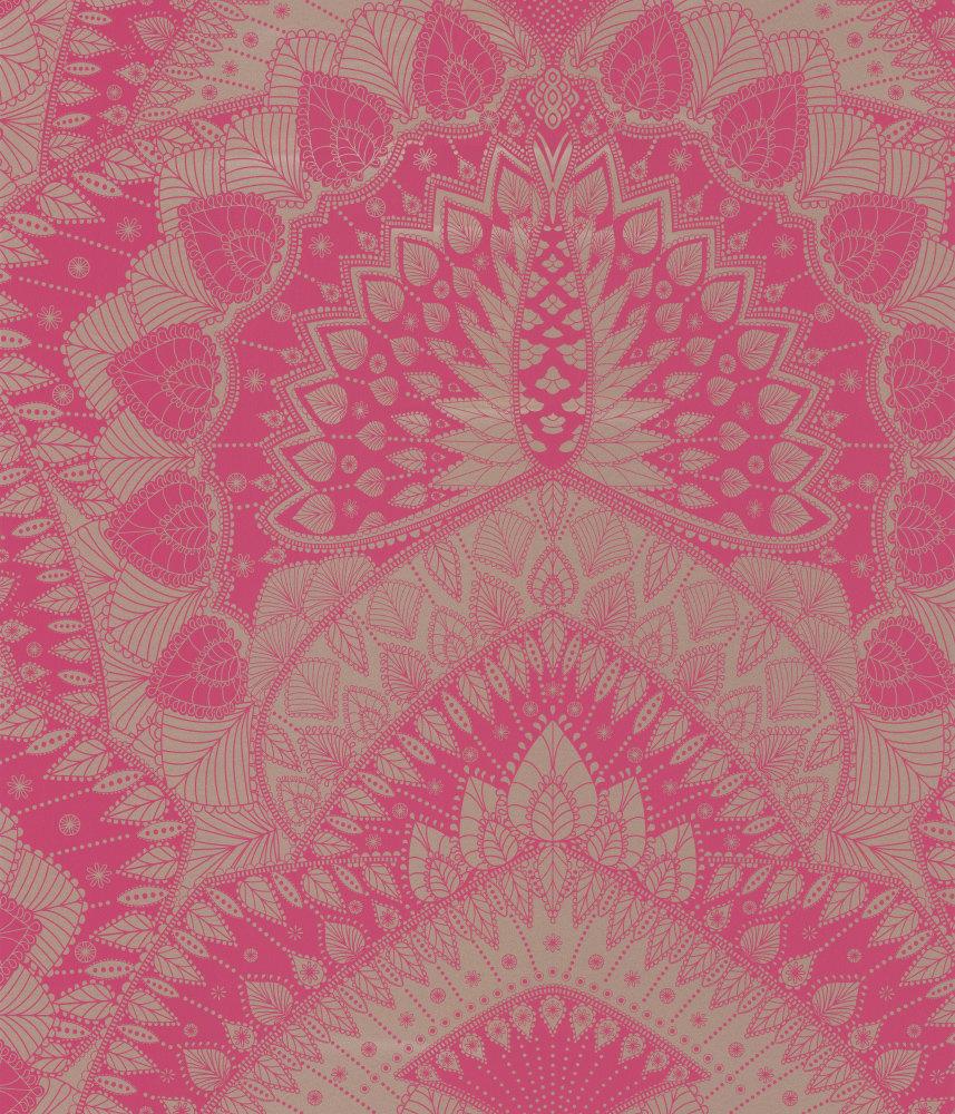 Matthew Williamson Azari Pink Gold Wallpaper Main Image