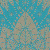 Matthew Williamson Azari Turquoise / Gold Wallpaper