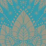 Matthew Williamson Azari Turquoise / Gold Wallpaper - Product code: W6952/02