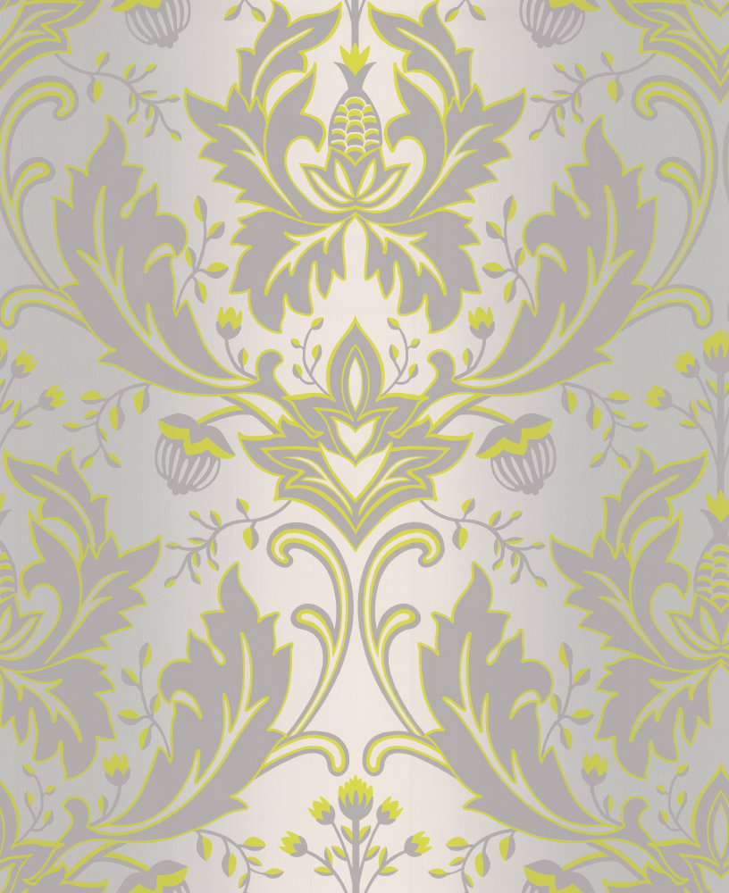 Grey and lime wallpaper