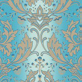 Matthew Williamson Viceroy Turquoise / Gold Wallpaper - Product code: W6954/03