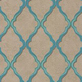 Matthew Williamson Jali Trellis Teal / Gilver Wallpaper