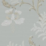 Colefax and Fowler Bellflower Old Blue Wallpaper