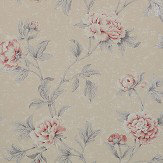Colefax and Fowler Karina Pink / Silver Wallpaper