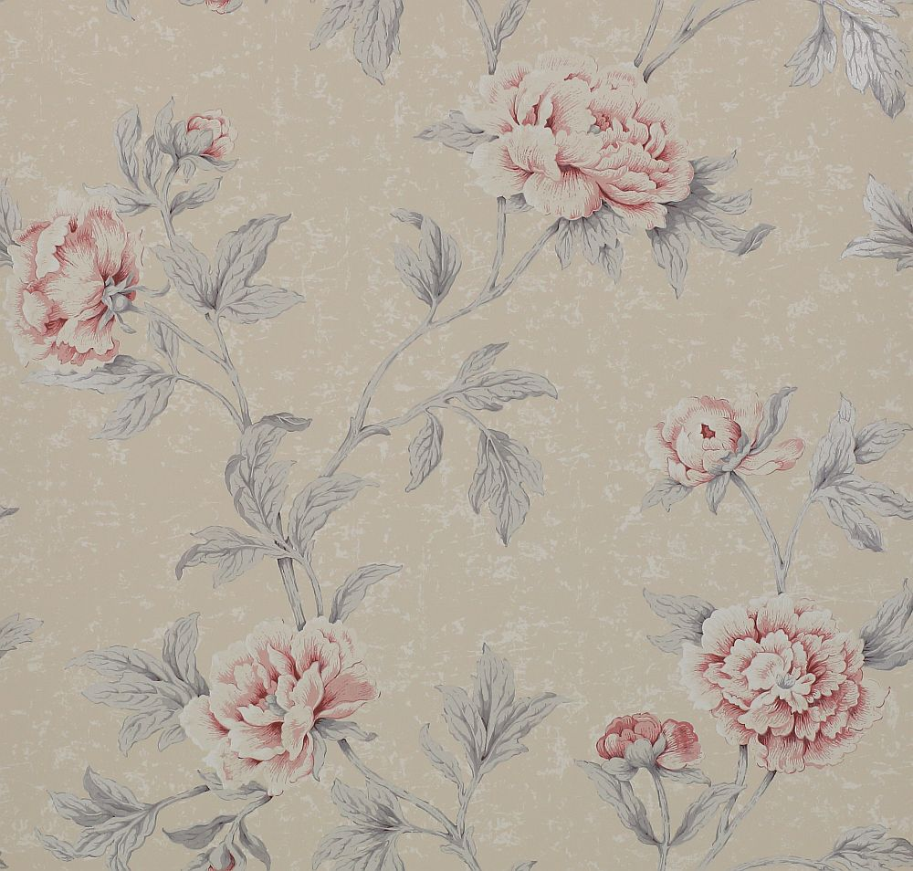 Karina by colefax and fowler pink silver wallpaper for Pink and silver wallpaper