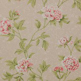 Colefax and Fowler Karina Pink / Green Wallpaper