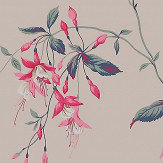 Colefax and Fowler Octavia Pink / Teal Wallpaper