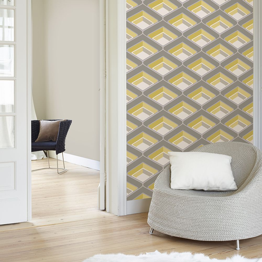 Geo Yellow Wallpaper - by Albany