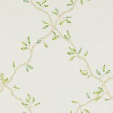 Colefax and Fowler Leaf Trellis Ivory / Green Wallpaper