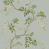 Colefax and Fowler Alderney Aqua Wallpaper