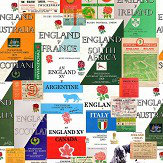 SportingWallpaper England Rugby Multi-coloured Wallpaper