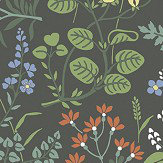 Boråstapeter Flora Charcoal Wallpaper