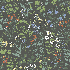 Boråstapeter Flora Charcoal Wallpaper - Product code: 5474