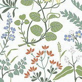 Boråstapeter Flora White Wallpaper - Product code: 5475