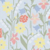 Sandberg Juniflora Green/Blue Wallpaper - Product code: 417-06