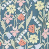 Sandberg Juniflora Navy/Pink Wallpaper - Product code: 417-77