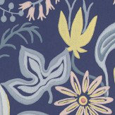 Sandberg Saro Navy/Yellow Wallpaper - Product code: 419-86