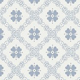 Boråstapeter Josefina Denim Blue Wallpaper - Product code: 5483