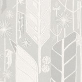 Sandberg Senecio Grey/White Wallpaper - Product code: 421-31