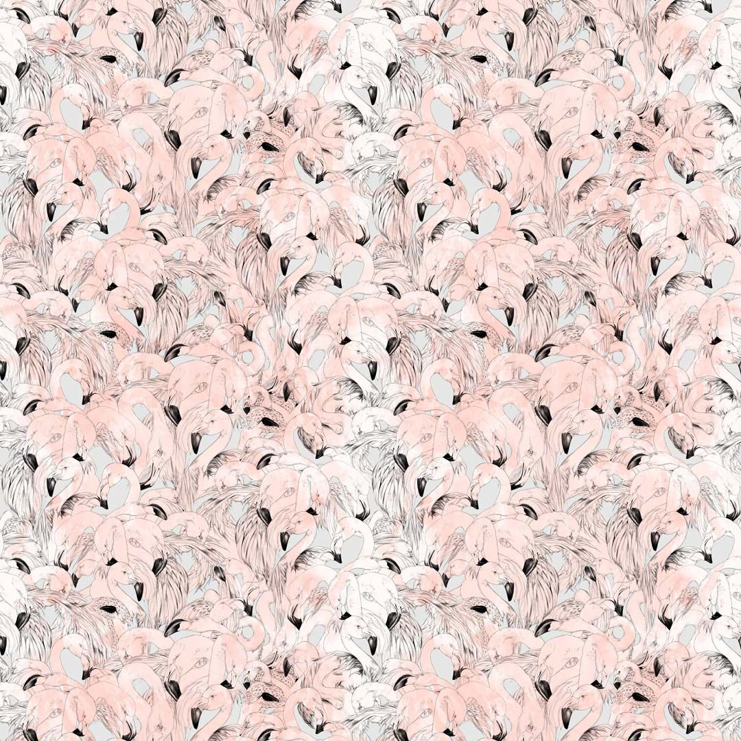17 Patterns Flamingo Peach Wallpaper - Product code: A08-FM-03W