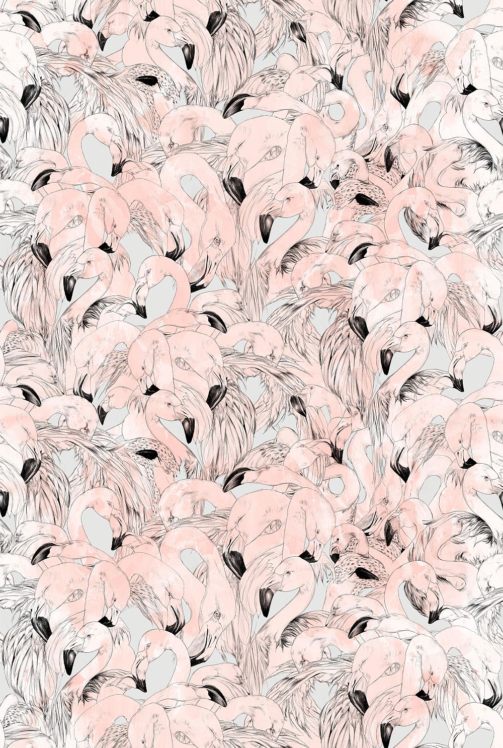17 Patterns Flamingo Peach Wallpaper main image
