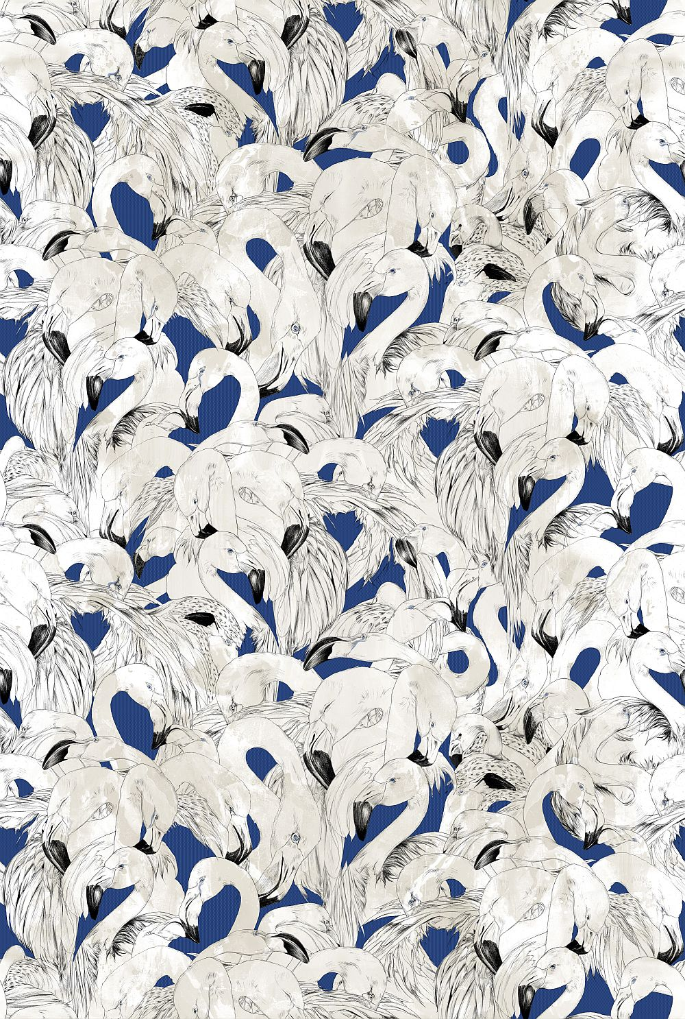 17 Patterns Flamingo Navy Wallpaper main image