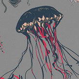17 Patterns Jellyfish Grey Wallpaper