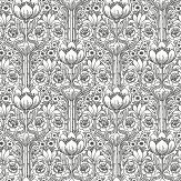 Eco Wallpaper Rosegarden White & Black  Wallpaper