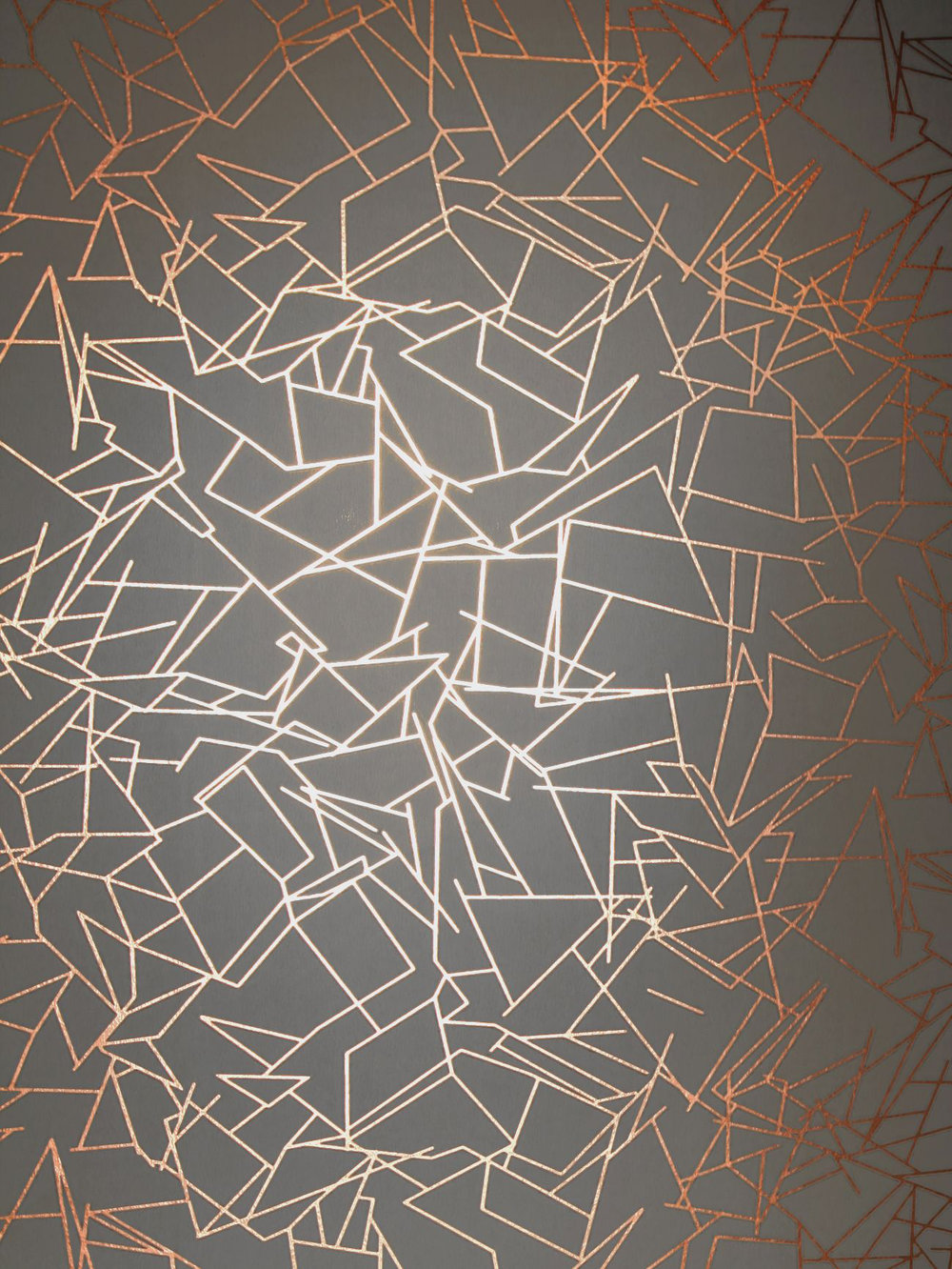 Angles by erica wakerly copper rose lead grey for Metallic wallpaper