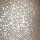 Erica Wakerly Angles Copper Rose / Zinc Grey Wallpaper - Product code: ANG ZINC