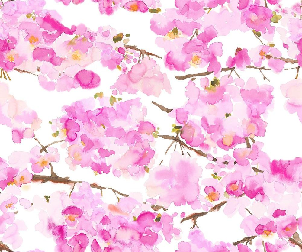 bluebellgray Fumiko Pink and White Wallpaper - Product code: WL005