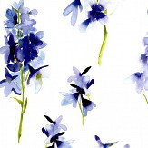 bluebellgray Delphinium Blue and White Wallpaper