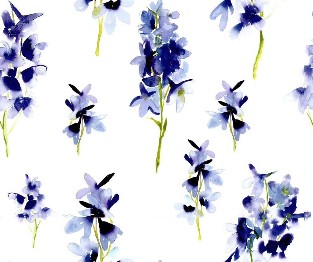 bluebellgray Delphinium Blue and White Wallpaper - Product code: WL012