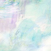 bluebellgray Impressionist Blue and Turquiose Wallpaper