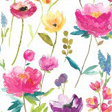 bluebellgray Flower Field (Set of 2 Rolls) Multi Wallpaper
