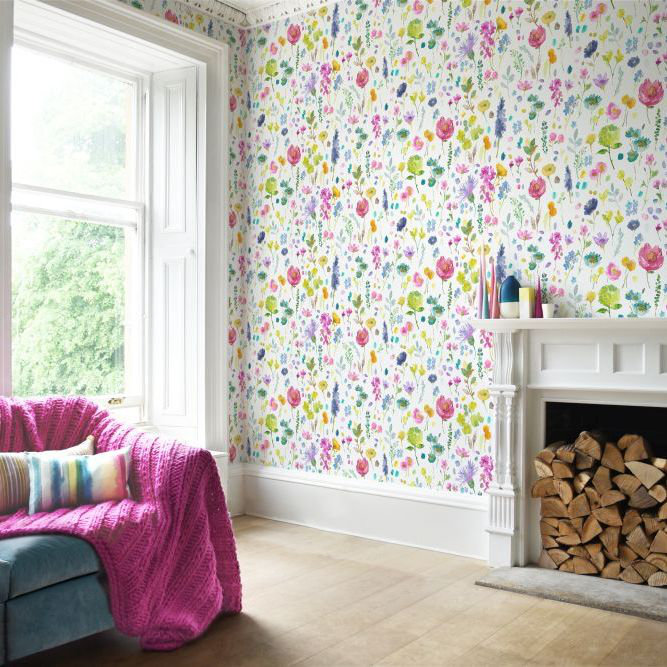bluebellgray Tetbury (Set of 2 Rolls) Multi Wallpaper - Product code: WL010