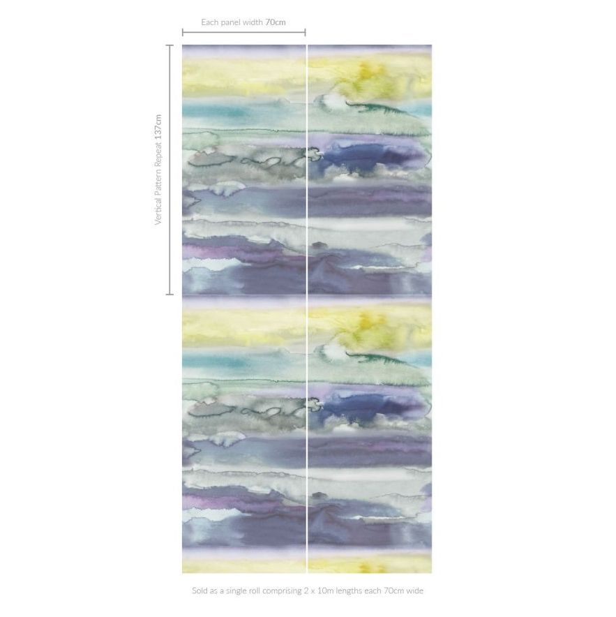 Morar (Set of 2 Rolls) Wallpaper - Multi - by bluebellgray