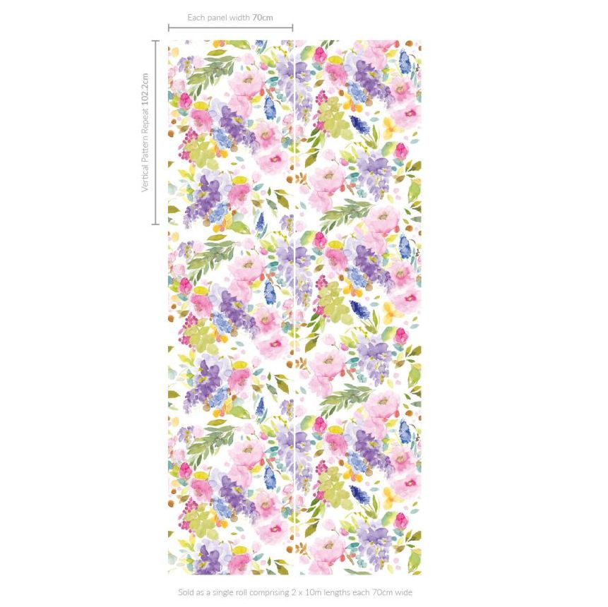 bluebellgray Wisteria (Set of 2 Rolls) Pinks and Purples Wallpaper - Product code: WL004