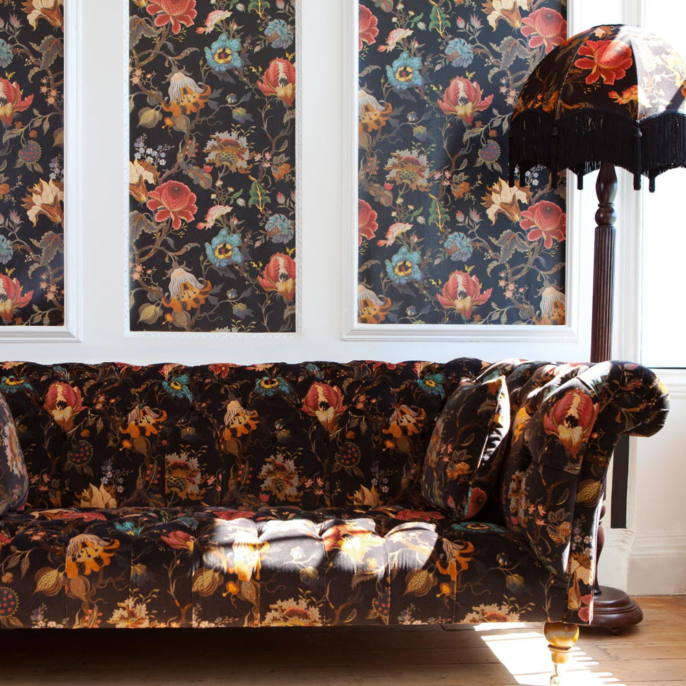 Artemis By House Of Hackney Black Wallpaper Direct