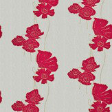 Barneby Gates Poppy Fields Red / Gold Wallpaper