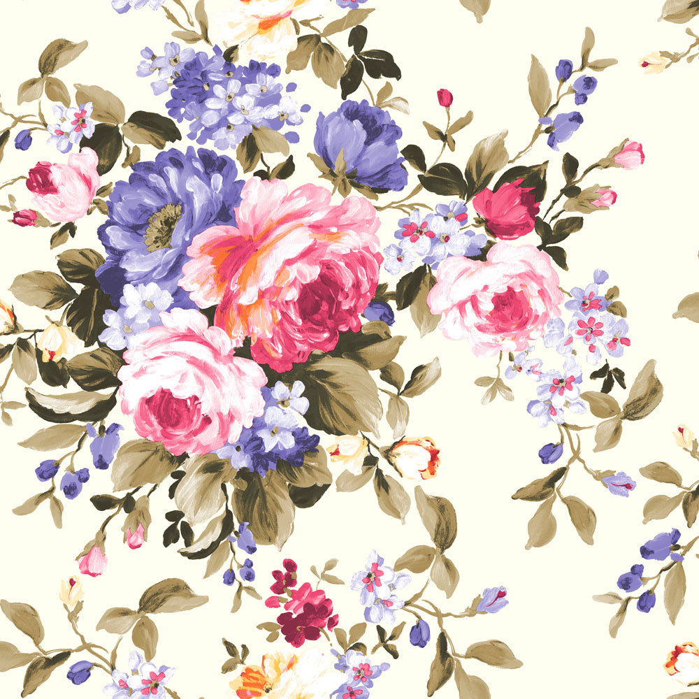 Clarke & Clarke Emeline Multi Wallpaper main image