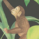 Clarke & Clarke Monkey Business Ebony Wallpaper