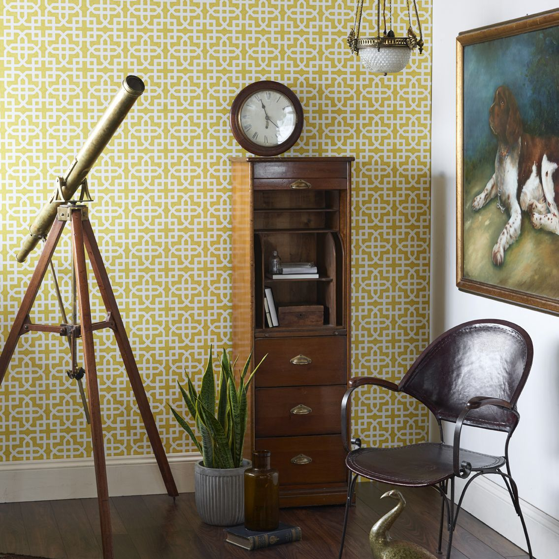 Clarke & Clarke Monserrat Citron Wallpaper - Product code: W0084/01