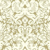 Clarke & Clarke Valentina Gold Wallpaper - Product code: W0088/03