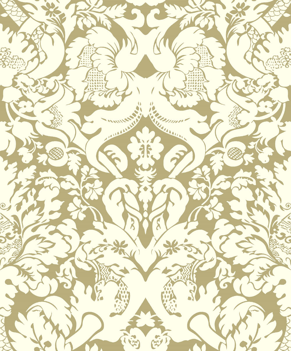 valentinaclarke & clarke - gold : wallpaper direct