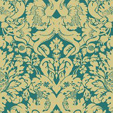 Clarke & Clarke Valentina Teal Wallpaper - Product code: W0088/08
