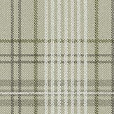 Eco Wallpaper Checked Tweed Green Wallpaper