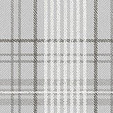 Eco Wallpaper Checked Tweed Grey Wallpaper