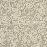 Albany Trieste Swirl Pattern Latte Wallpaper