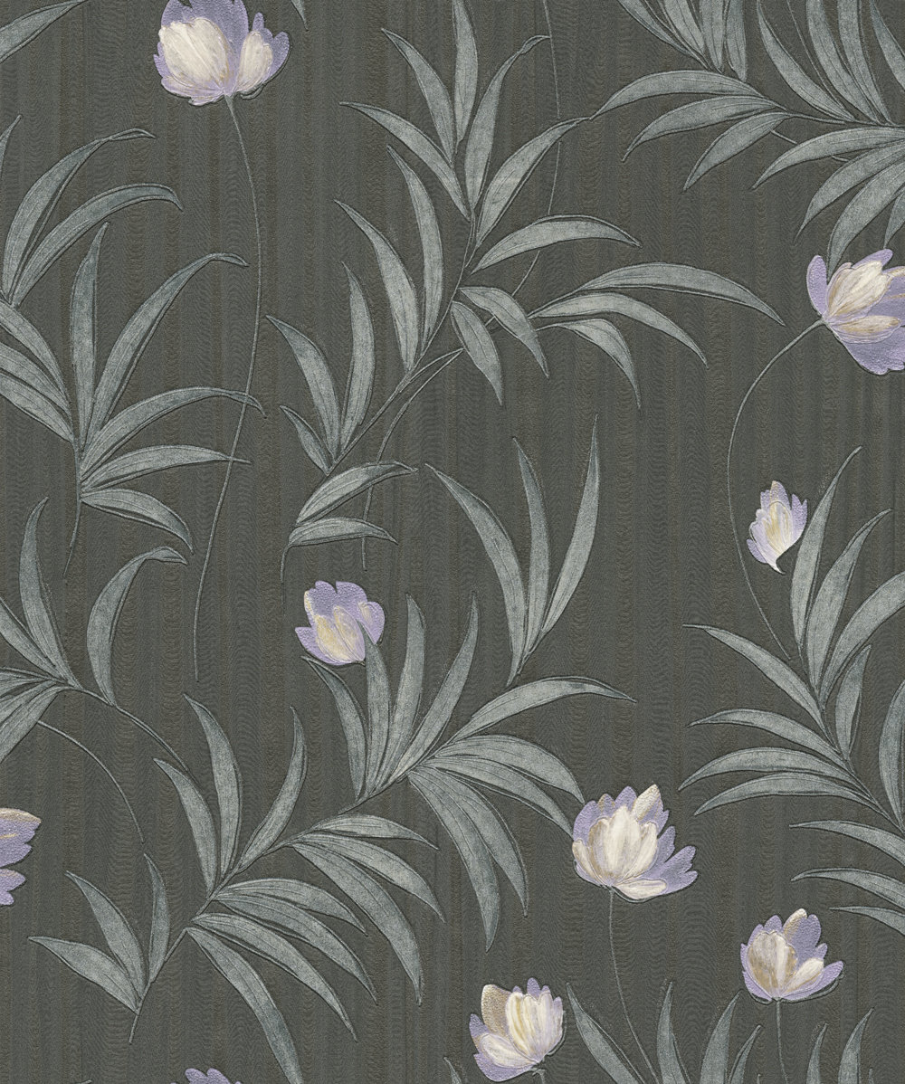 Albany Flavia Lilac / Black Wallpaper - Product code: 2151